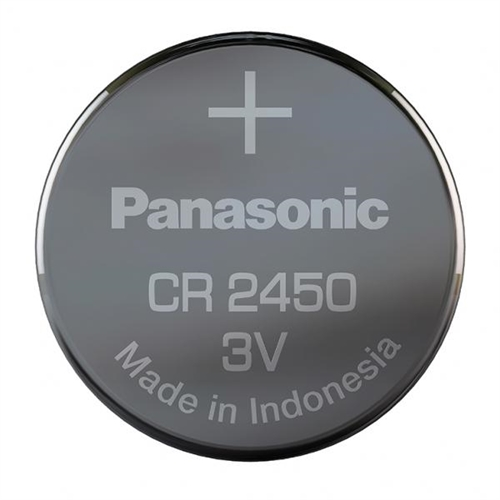 Panasonic CR2450 batteri (lithium)<br>1 stk.