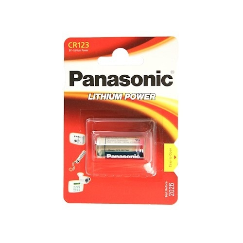 Panasonic CR123A batteri (lithium) (1 stk.)